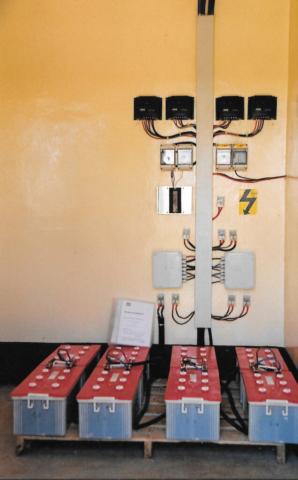 Hilfswerk Bassotu - Mwanga Dispensary Solaranlage Verteiler